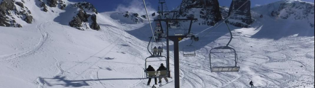Auffahrt mit dem Towers Triple Chair Lift