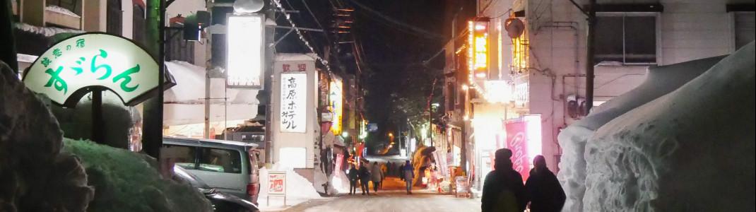 Nachtleben in Akakura Village