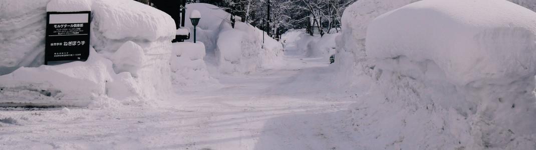 Schnee ohne Ende auch im Tal
