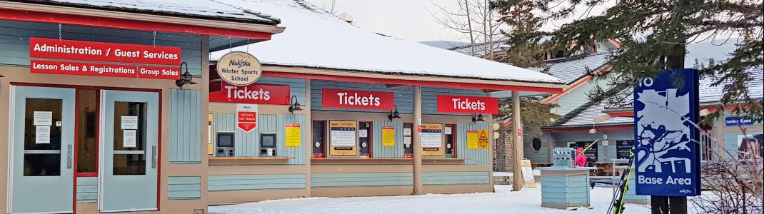 Besucherservice und Ticketschalter in Nakiska