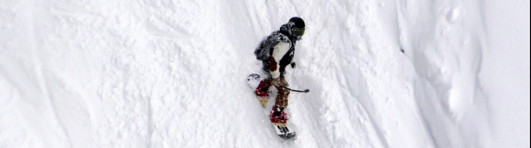 Snowboarder in Nozawa Onsen