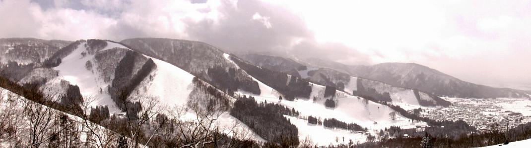 Panoramablick auf Nozawa Onsen