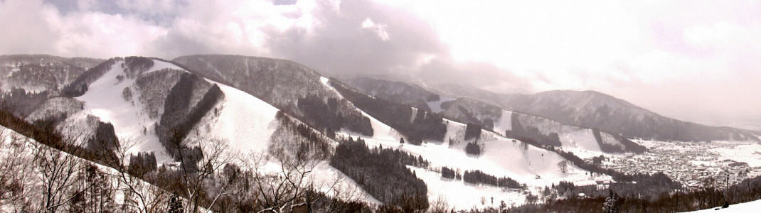 Panoramablick über Nozawa Onsen