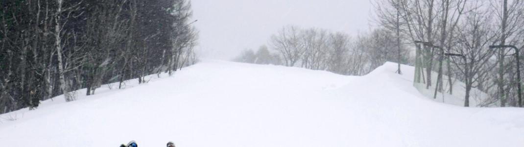 Mit 14 Metern Schneefall pro Winter ist eine lange Saison in Nozawa Onsen gesichert.