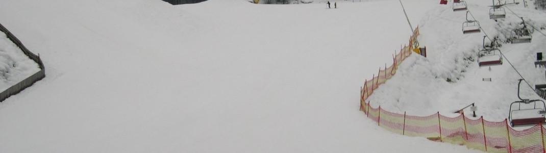 Von der Talstation 4er-Sesselbahn in Richtung Skigebiet!