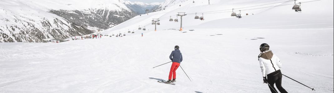 Im Skigebiet Gurgl gibt es mehr als 35 Kilometer leichte Pisten.