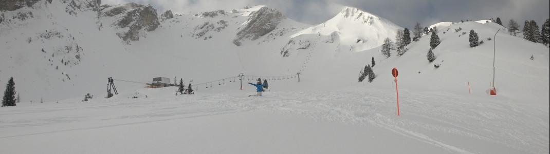 Während unseres letzten Besuchs lagen in Obertauern bis zu 2,50 Meter Schnee