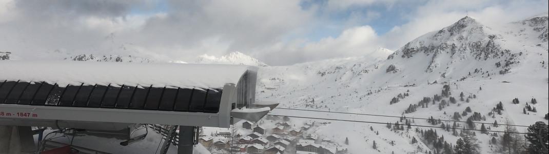 Sicht auf die Bergstation Achenrain