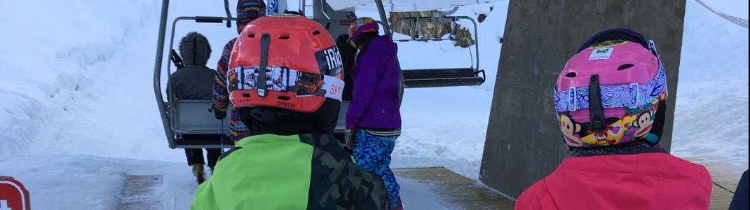 Im unteren Bereich des Ski Resorts gibt es zahlreiche grüne und blaue Pisten.