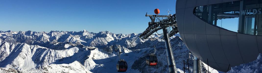 Bergfahrt mit Komfort auf höchstem Niveau: Die neue Wildspitzbahn