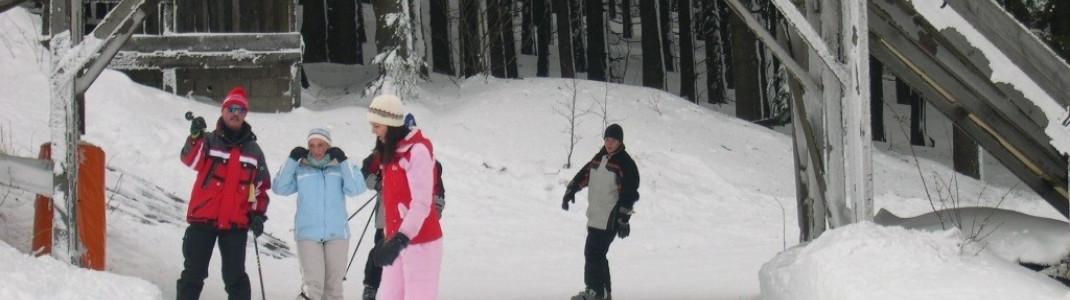 Auch Snowboarder kommen am Pröller Skidreieck in Klinglbach auf ihre Kosten