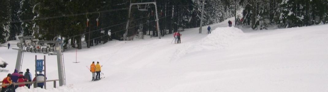 Einer der vier Schlepplifte im Skigebiet