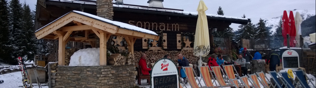Doe Sonnalm-Skihütte in Saalbach.