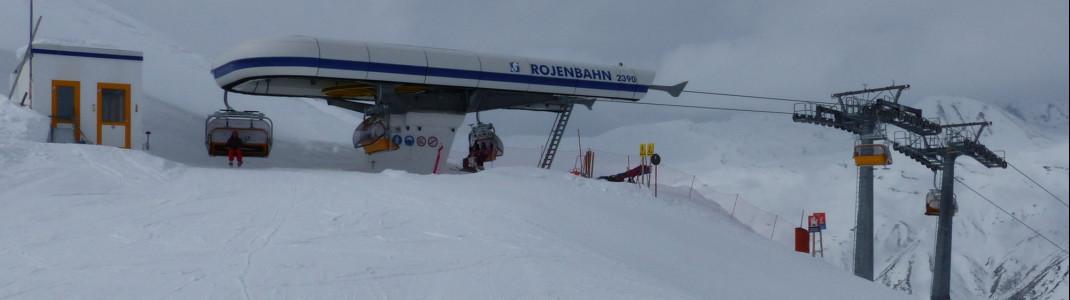 Die Skipisten im Bereich der Rojenbahn haben es in sich