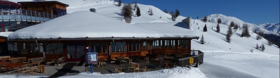 Das größte Restaurant im Skigebiet Sillian Hochpustertal ist das Panoramarestaurant Gadein