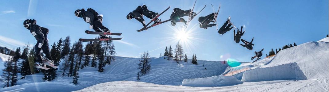 Der Snowpark Alpendorf bietet jede Menge Fun und Action für Freestyler.