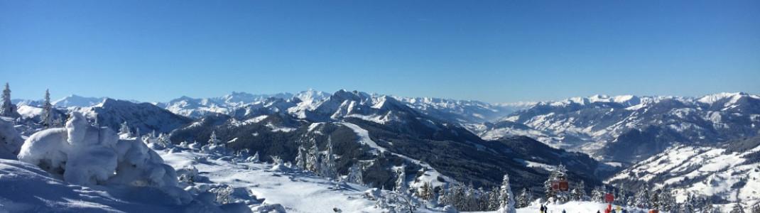 Die traumhafte Aussicht gibts im Skigebiet gratis dazu ;-)