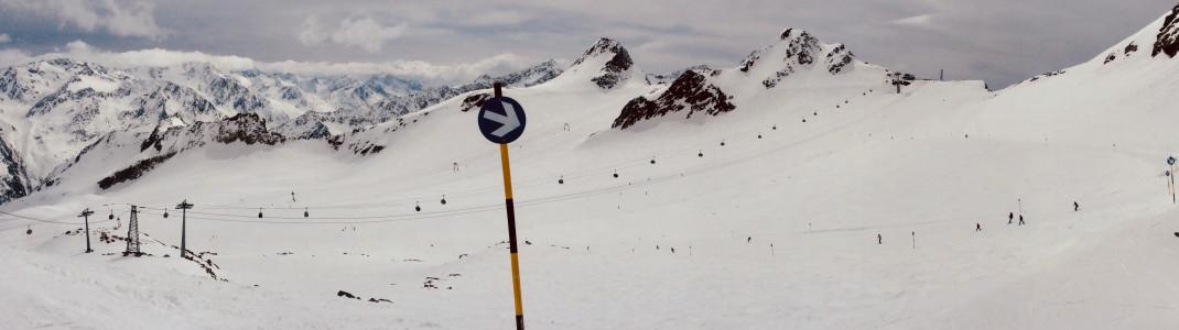 Die Pisten am Tiefenbachgletscher sind auch für Anfänger gut geeignet.