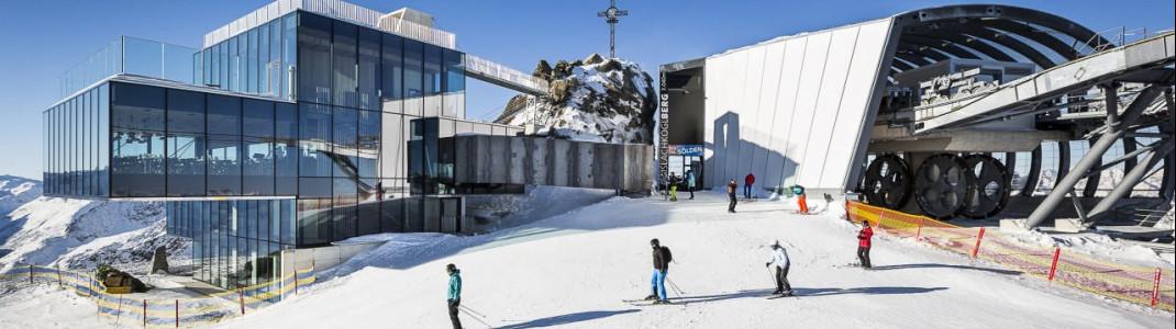 Der Ice Cube am über 3000m hohen Gaislachkogl in Sölden.