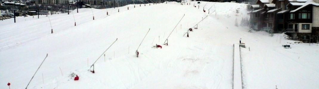 """Anfängerbereich im Tal unterhalb der """"Gondola!"""