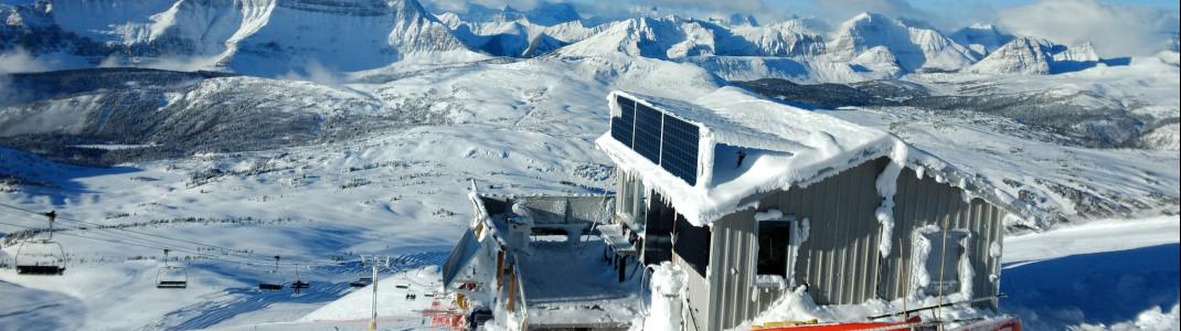 Eisige Temperaturen und jede Menge Schnee sorgen für Traumpanorama im Sunshine Village