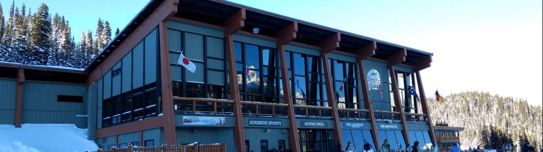 Neben Skiverleih und Skishop befindet sich auch die Skischule im Sunshine Village