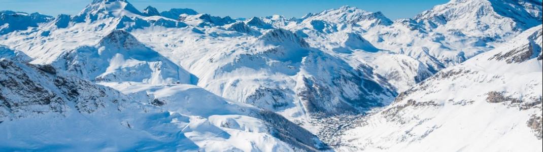 In Val d'Isere kannst du herrliche Aussichten genießen.