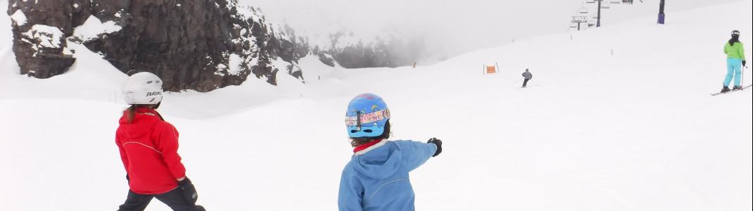 Auf der K Road Abfahrt fühlen sich auch kleine Skifahrer wohl.