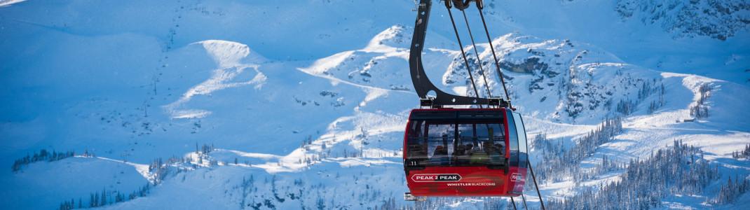 Whistler Blackcomb ist eines der Top-Skigebiete in Kanada.