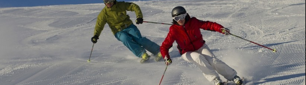 Voll auf ihre Kosten kommen sportliche Skifahrer auf der Steinplatte.