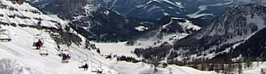 Bick von der Frauenkar Bergstation. Von hier aus führt seit 2008 die anspruchsvolle Panoramaabfahrt 3a ins Tal.
