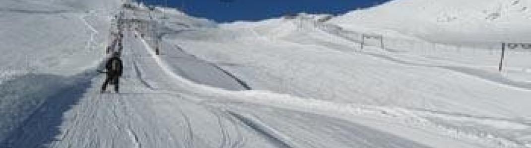 Blick auf Gletscherabfahrt 1!
