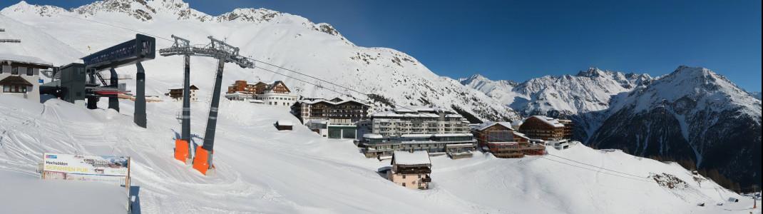 Seit Montag, 15. Februar, stehen die Lifte im Skigebiet von Sölden still.