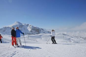 Portes du Soleil includes 12 ski resorts in France and Switzerland.