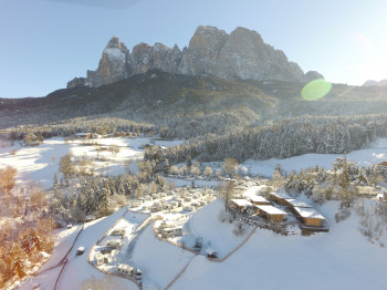 Seiser Alm is one of the camping destinations in the UNESCO World Heritage Dolomites.
