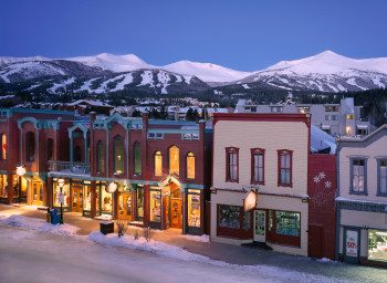 Breckenridge in Colorado: even the town is at an elevation of almost 3,000 metres.