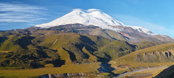 Mt. Elbrus's peak measures 5,642 metres.