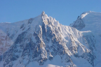 The north face of Aiguille du Midi (3,842 m).