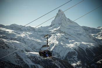 In Zermatt you can also go skiing in summer.