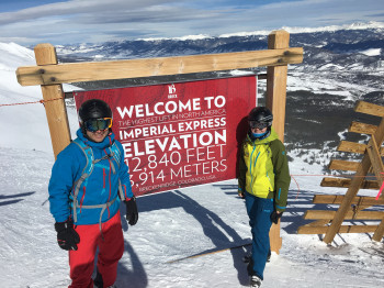 The Imperial Express in Breckenridge is the highest lift in North America.