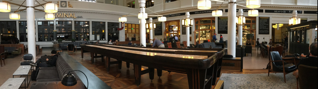 Various cafes are located inside the Historic Union Station.