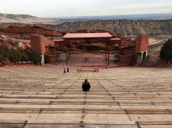Before heading to the Rockies, we made a short stop at the Red Rocks amphitheater.