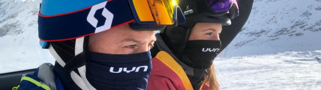In den Liften und Warteschlangen gilt für Skifahrer Maskenpflicht.
