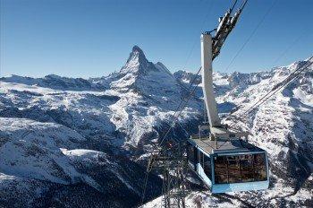 In Zermatt hast du von der Rothornbahn aus einen grandiosen Ausblick auf das Matterhorn.