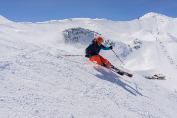 "Winter sports enthusiasts in Ischgl follow the historic tracks of the popular ""Smuggler"" trails."