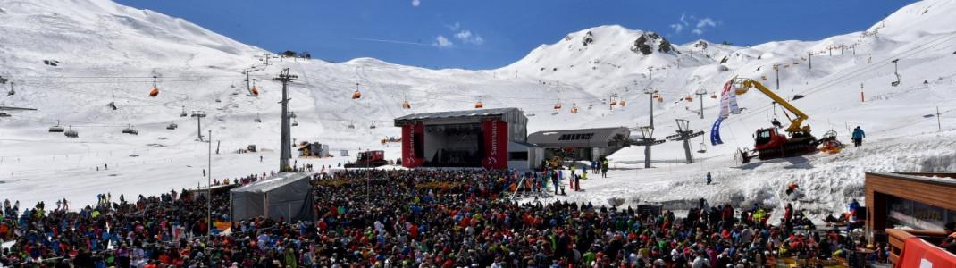 Beste Stimmung und tolle Live-Acts erwartet die Besucher beim Internationalen Frühlings-Schneefest auf der Alp Trida