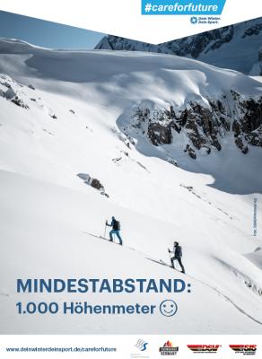 Abstandhalten ist beim Wintersport selbst kein Problem.