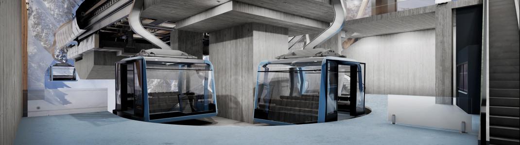 Die neue 3S-Bahn verbindet ab 2021 Zermatt mit Italien.