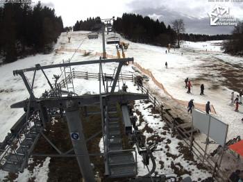 Im Sauerland mussten sich Skifahrer heuer oft mit wenig Schnee begnügen.