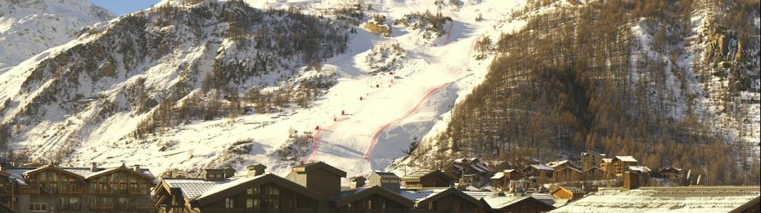Die Weltcup-Strecke endet direkt am Ortsrand.
